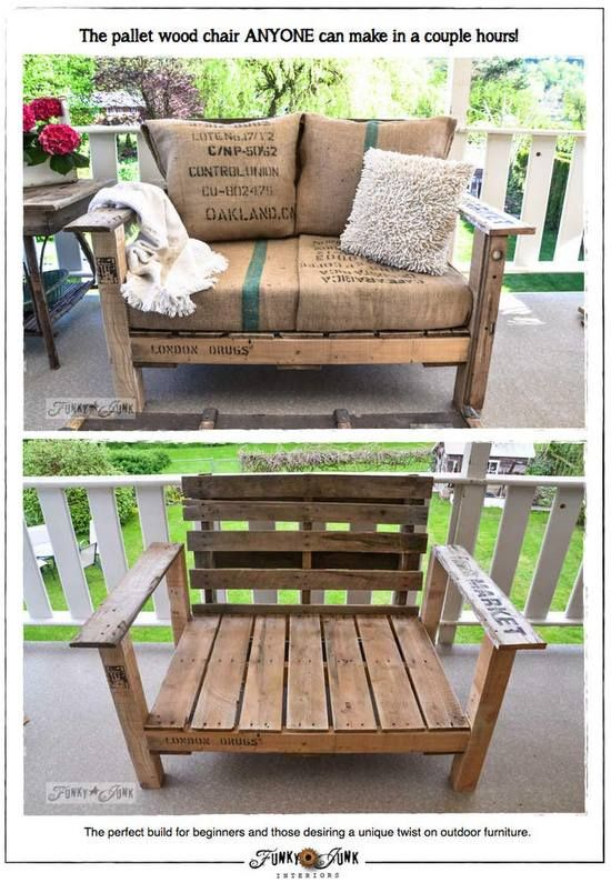 DIY outdoor pallet bench tutorial - how to make outdoor pallet benches