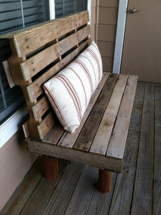 Pallet benches outdoor DIY ideas