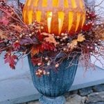 front porch pumpkin decorating idea