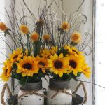 Shabby Chic Sunflower Mason Jar DIY Ideas