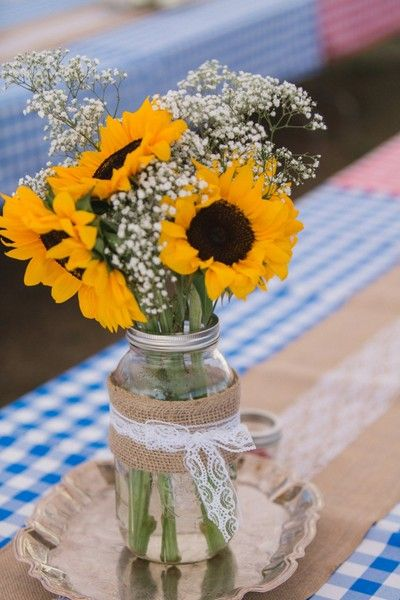mason jar sunflower arrangements></p> <script async src=