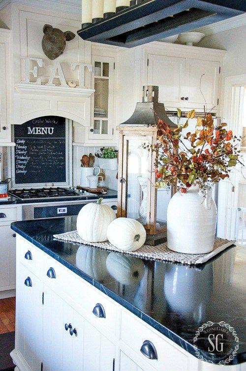 gorgeous white farmhouse kitchen