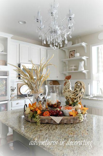 kitchen chandelier idea - farmhouse kitchen - French country kitchen