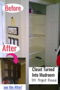 Closet Mudroom • Turn a Closet Into a Mini Mudroom (before and after pictures)